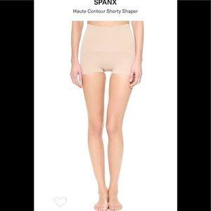 NWT SPANX Haute Contour Short Shaper Tan Size C